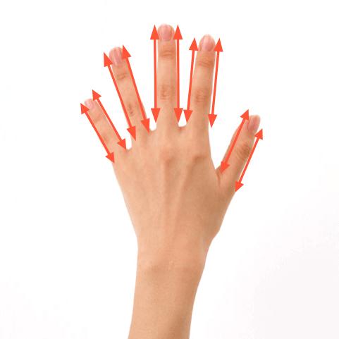 ハリフト指のマッサージ